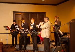 The LV Rogers Jazz Combo opens the evening!Photo: Melissa Welsh