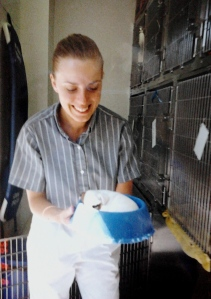 Kristene Perron working at Guildford Animal Hospital