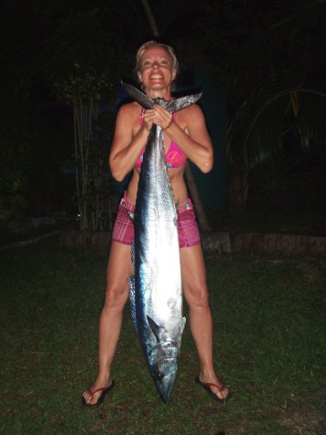Strong woman with wahoo