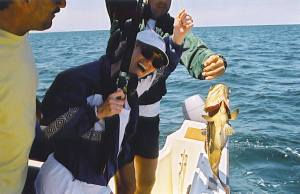 Joyce Roney and Fred Perron fishing