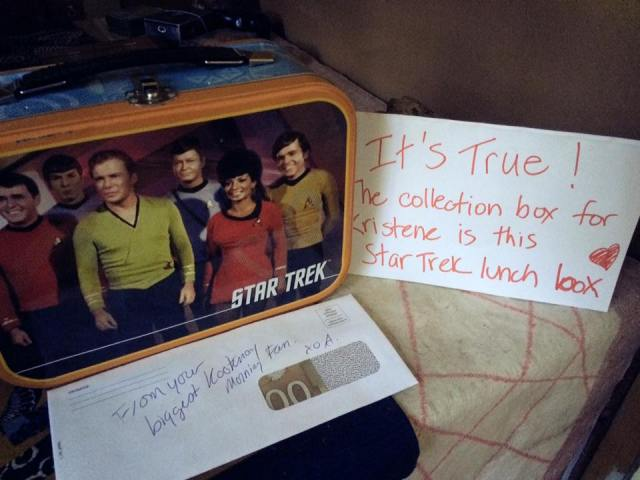 Star Trek Lunch box with donations