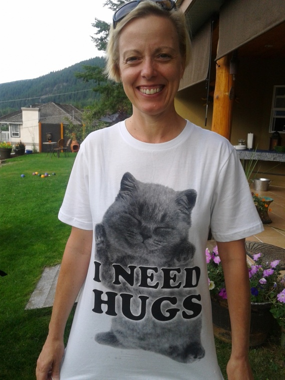 Kristene Perron I need hugs t-shirt