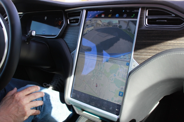 Tesla display screen
