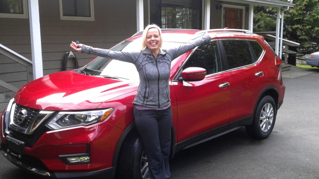 Kristene with her new SUV
